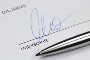 Unterschrift 310x205 - Das kommt mit dem Koalitionsvertrag