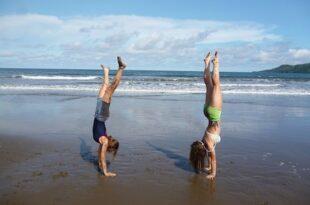 Mädchen machen Fitness