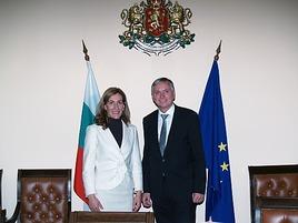 OBS 20141102 OBS0005 galerie - Treffen der Verkehrsminister - Alois Stöger und Nikolina Angelkova
