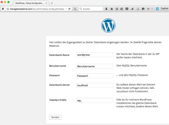 WordPress Datenbank Name - WordPress Website erstellen - Schritt für Schritt