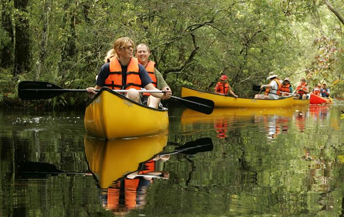 Kanu-Fluss Outdoor-Teambulding Events mit Vogelmann Adventure