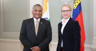 Aurelia Frick und Vijay Kumar Singh 310x165 - Liechtenstein und Indien diskutieren Freihandelsabkommen