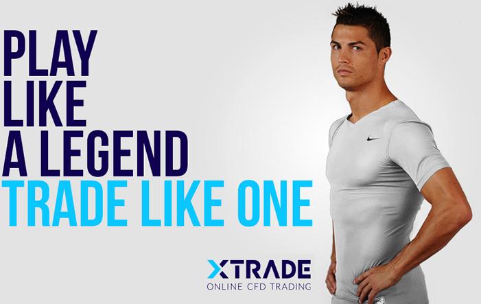 Markenbotschafter Christiano Ronaldo XTrade - Online-CFD-Broker XTrade: Christiano Ronaldo wirbt als Markenbotschafter