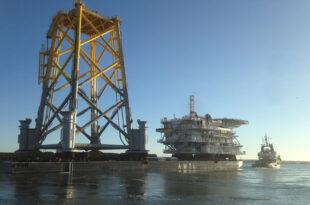 Umspannplattform 310x205 - Stadtwerke München bauen Offshore-Windpark vor Sylt