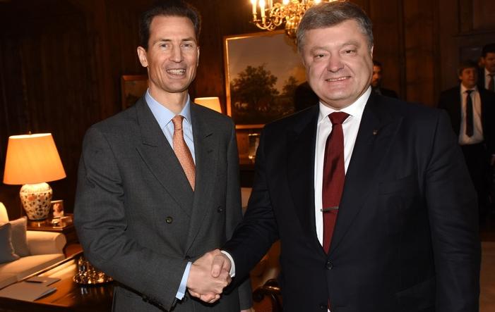 Petro-Poroshenko-Liechtenstein Ukrainischer Präsident Poroshenko zu Besuch in Liechtenstein