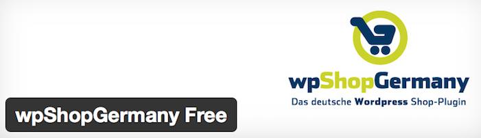 wpShopGermany - Wordpress Shop - so einfach geht es