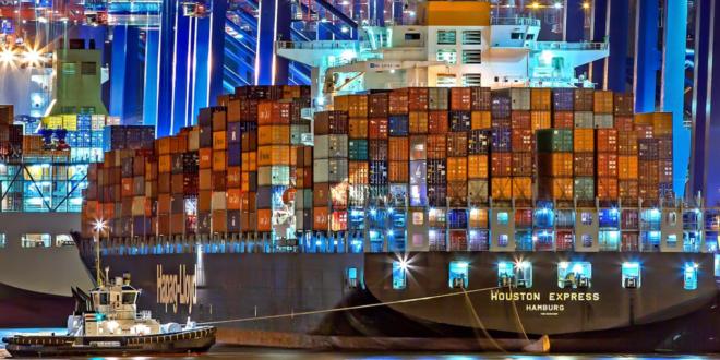 Containerschiff 660x330 - Südwestmetall-Vorsitzender fordert tiefere Zölle beidseits des Atlantiks