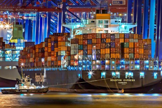 Containerschiff - Südwestmetall-Vorsitzender fordert tiefere Zölle beidseits des Atlantiks