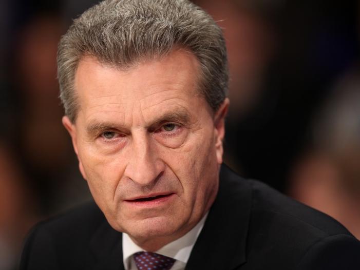 """Bild von Oettinger: Trump äußert sich """"falsch und irreführend"""""""
