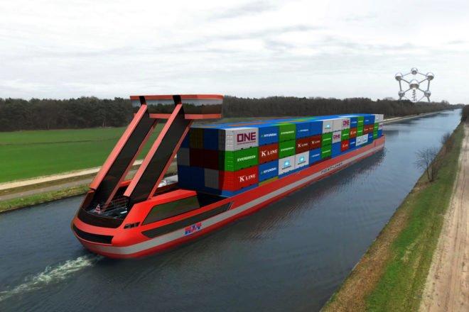 Portliner - Elektrische Lastschiffe ermöglichen emissionsfreie Binnenschifffahrt