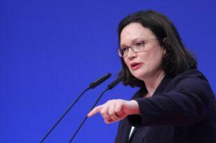 Digitalpakt Nahles will schnelle Grundgesetzänderung 310x205 - SPD-Chefin will Zukunft der Autoindustrie zur Chefsache machen