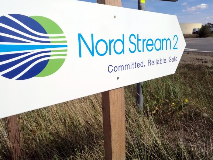 Bild von Russlands Außenminister: Nord Stream 2 läuft nach Plan