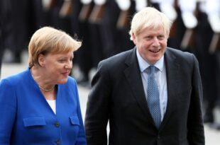 Johnson von Merkel in Berlin empfangen 310x205 - Johnson von Merkel in Berlin empfangen