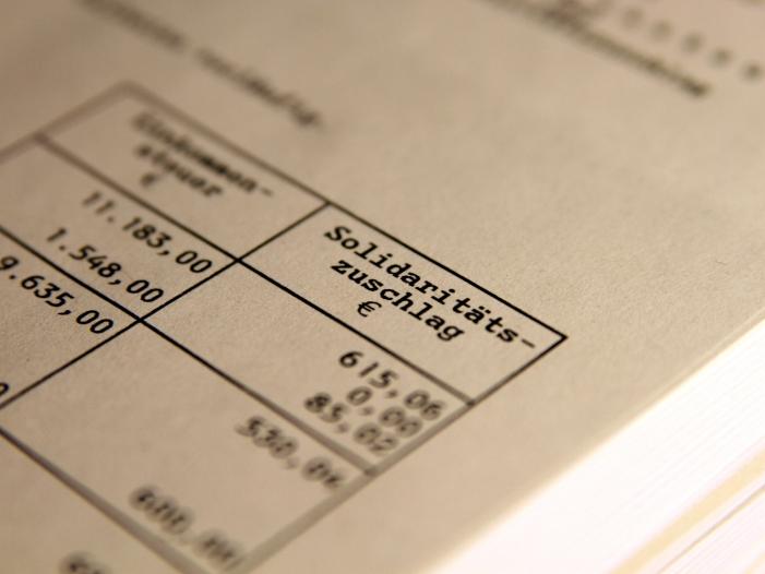Bild von Durchschnittsverdiener zahlten bisher 6.300 Euro Solidaritätszuschlag