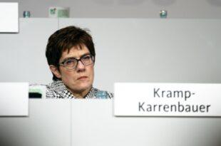 Kramp Karrenbauer Schwierige Phase für die CDU 310x205 - Kramp-Karrenbauer: Schwierige Phase für die CDU