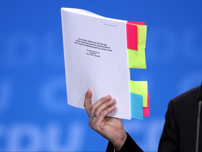 Bild von Union und SPD wollen Koalitionsvertrag erneuern