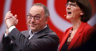 Walter Borjans und Esken neue SPD Chefs Überraschung bei Ergebnis 310x165 - Walter-Borjans und Esken neue SPD-Chefs - Überraschung bei Ergebnis