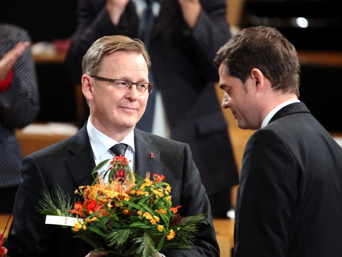 Bild von Ramelow zu Gespräch mit Gauck und Mohring bereit