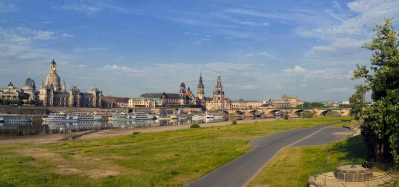 Elbe bei Dresden - Dresden - eine der grünsten Städte Europas